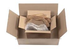 Cajas y empaquetado de cartón Imágenes de archivo libres de regalías