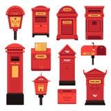 Cajas y servicios del poste para que gente comunique libre illustration