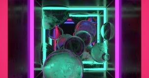 Cajas y speheres coloridos abstractos