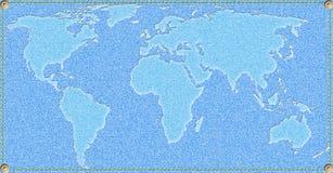 cajgów mapy świat Zdjęcie Royalty Free