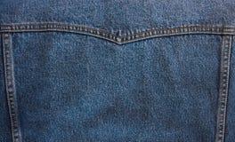 Cajg tekstura z szwami dla tła Fotografia Royalty Free
