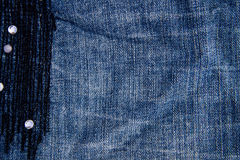 Cajg tekstury tło Część niebiescy dżinsy Zdjęcie Royalty Free