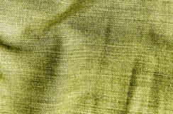 Cajg tekstylna tekstura w żółtym kolorze Fotografia Royalty Free