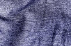 Cajg tekstylna tekstura w błękitnym kolorze Zdjęcie Royalty Free