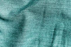 Cajg tekstylna tekstura w cyan kolorze Obrazy Stock