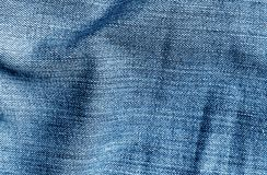 Cajg tekstylna tekstura w marynarki wojennej błękita kolorze Fotografia Stock