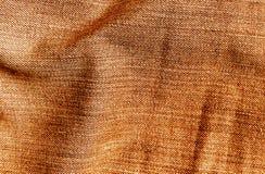 Cajg tekstylna tekstura w pomarańczowym kolorze Zdjęcia Royalty Free