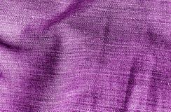 Cajg tekstylna tekstura w purpura kolorze Zdjęcie Royalty Free