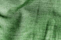 Cajg tekstylna tekstura w zielonym kolorze Zdjęcie Stock