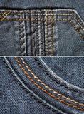 Cajg tkanina Obrazy Stock