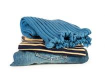 Cajgi i pulower Fotografia Royalty Free