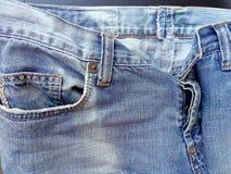 Cajgi niebieska tła Piękna tekstura Rocznik Fotografia Royalty Free