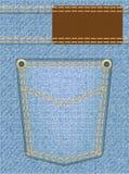 Cajgi texture z kieszenią Obrazy Royalty Free