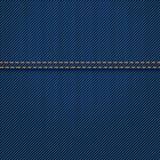 Cajgi texture z szwem Ilustracja Wektor