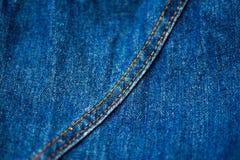 Cajgowa tekstylna tekstura Obrazy Royalty Free