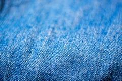 Cajgowa tekstylna tekstura Zdjęcia Royalty Free
