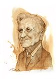 Cajgowy Claude Trichet Portreta Nakreślenie Obraz Royalty Free
