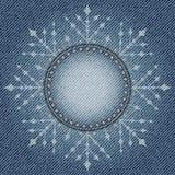 Cajgu płatek śniegu Zdjęcia Royalty Free