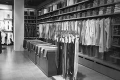 Cajgu sklepu wnętrze Fotografia Stock