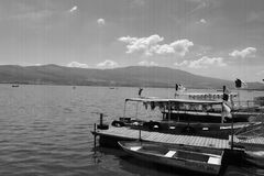 Cajititlan Lake Port Royalty Free Stock Photography
