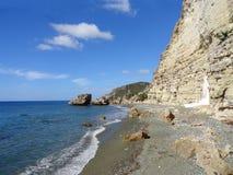 Cajobabo一点海滩,加勒比海,古巴 免版税库存图片