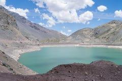 Cajon del迈波火山全景,在智利 库存照片