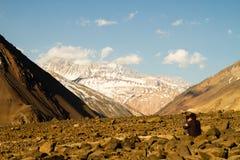 Cajon del迈波火山峡谷  免版税库存图片