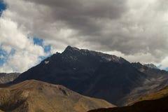 Cajon del迈波火山,智利 免版税库存照片