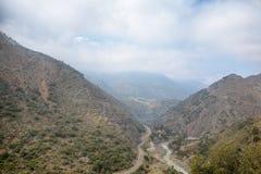 Cajon del Maipo cerca de Santiago, Chile Fotografía de archivo