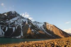 Cajon del Maipo eind van de winter Royalty-vrije Stock Afbeeldingen