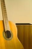 Cajon and guitar Royalty Free Stock Photo