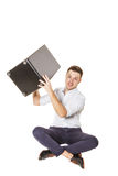 Cajon in the hands of Royalty Free Stock Photos