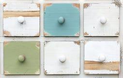 Cajones coloreados imagenes de archivo