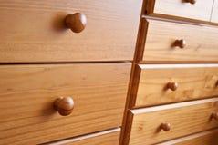 Cajones de madera Fotografía de archivo libre de regalías