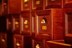 Cajones de madera del vintage Fotografía de archivo