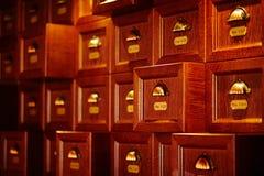 Cajones de madera del vintage Foto de archivo