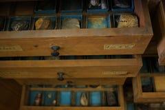Cajones del laboratorio Imagen de archivo libre de regalías