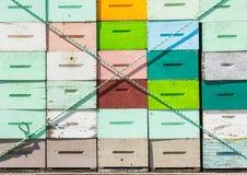 Cajones del panal atados en el camión Imagen de archivo