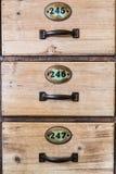 Cajones del vintage Fotografía de archivo libre de regalías