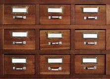 Cajones marcados con etiqueta Fotos de archivo