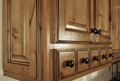 Cajones modernos de la cocina Foto de archivo