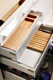 Cajones modernos de la cocina Imagen de archivo libre de regalías