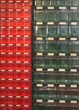 Cajones plásticos Fotos de archivo libres de regalías