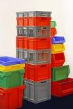 Cajones plásticos Foto de archivo libre de regalías