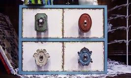 Cajones y botones del vintage Imagenes de archivo