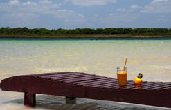 Caju juice. Juice of caju with the fruit on side Stock Photography