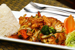 Caju tailandês da galinha Imagem de Stock