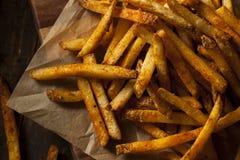 Cajun a assaisonné des pommes frites images libres de droits