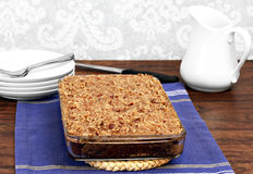 Cajun cake with Praline topping Stock Photos
