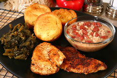Cajun Catfish and Chicken Stock Images